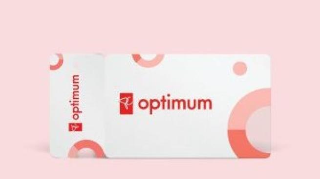 PC Optimum rewards card against a pink background