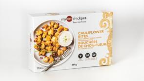 Package shot of My Little Chickpea Cauliflower Bites